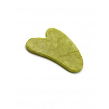 Скребок гуаша из зелёного нефрита