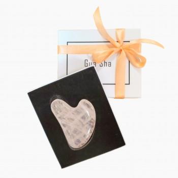 Пластина гуаша из розового кварца в подарочной упаковке