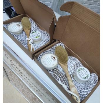 Подарочная крафт-упаковка к наборам со средними щёточками (30 см)
