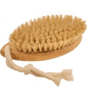 Щетка для сухого массажа кактус (тампико) круглая